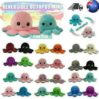 Cute Double-Sided Flip Reversible Octopus Plush Toys Funny Animals Doll Lovely • 6.99£