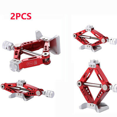 2pcs/set 6Ton Hand Screw Scissor Lift Jack Stands For 1/10 Axial SCX10 D90 Car • 15.43£