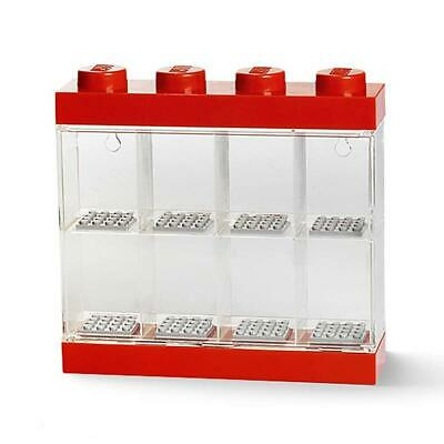 Lego 8 Minifigures Small Display Case - Red - Can Be Wall Mounted • 17.99£