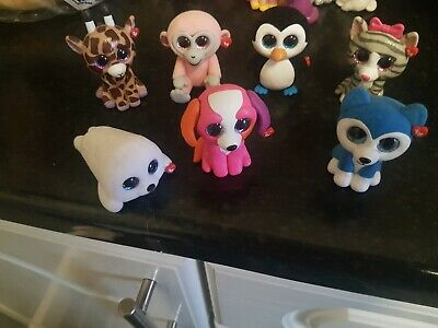 7 TY Mini Boos Collectibles Excellent Condition (not These Are Not  Fluffy Ones) • 1.99£
