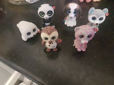 6 TY Mini Boos Collectibles Excellent Condition (not These Are Not  Fluffy Ones) • 1.99£