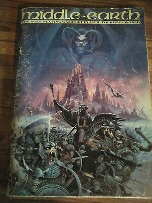 MIDDLE EARTH Role-playing Game Set In J.R.R Tolkien World. D&D Book 1985 • 6.51£
