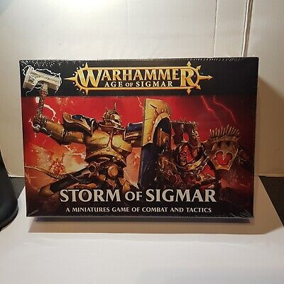 Warhammer Age Of Sigmar Storm Of Sigmar Game Of Combat And Tactics BRAND NEW • 19.99£