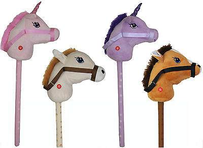 NEW Kids Hobby Horse Or Unicorn With Galloping Neighing Sounds Childrens Toy • 8.99£