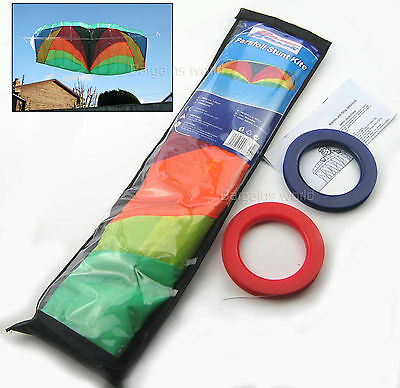 1.2m POWER PARAFOIL STUNT KITE 2 LINE POWERFUL EASY TO FLY UNBREAKABLE 47  SPAN • 11.99£