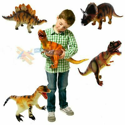 36cm Large Soft Foam Rubber Stuffed Dinosaur Play Toy Animals Action Figures • 11.99£