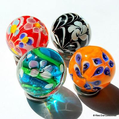 4 X 22mm Vivid Handmade Glass Art Toy Marbles - Marble Collectors Selection • 11.99£
