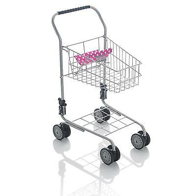 Molly Dolly Deluxe Metal Supermarket Shopping Trolley Childrens Kids Pretend Toy • 13.99£