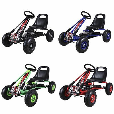GALACTICA Kids Go Kart Ride On Car Pedal With Rubber Wheels Adjustable Seat G02 • 66.99£