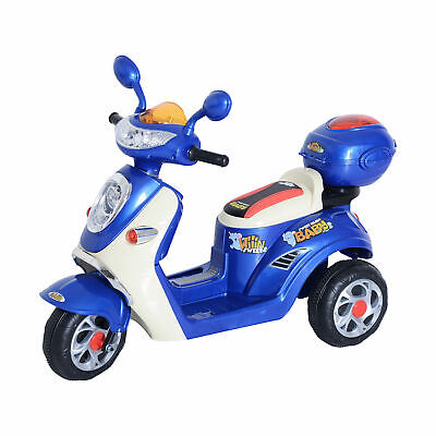 HOMCOM Electric Ride On Toy Car Kids Motorbike Children Battery Tricycle 6V • 69.99£