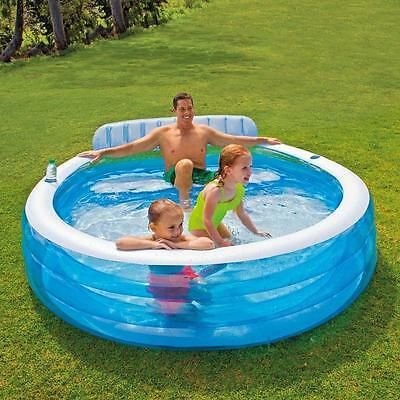 Intex Inflatable Swim Centre Family Lounge Large Paddling Swimming Seat Pool • 59.99£
