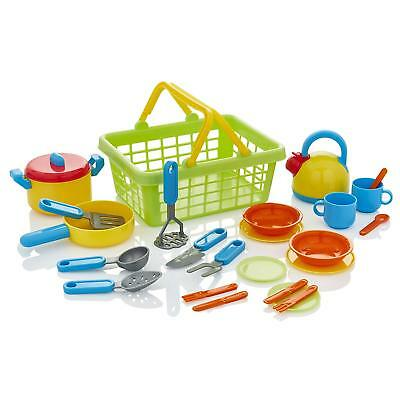 KiddyPlay Tea-set Cutlery Pans Childrens/Kids Pretend Play Kitchen Cooking Toy • 11.99£