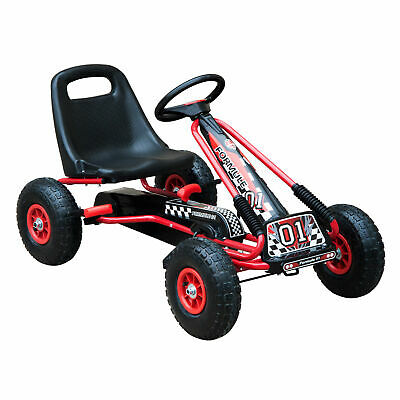 HOMCOM Deluxe Pedal Go Kart EVA Wheels Ride-on Car Children Racing Toy Kids Gift • 70.99£