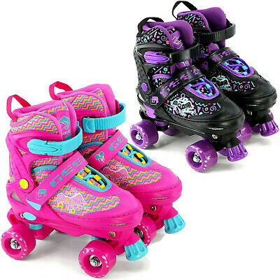 Kids Adjustable 4 Wheel Quad Roller Skates Boots Childrens Rollers  • 25.99£