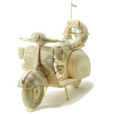 Scooter: Matchcraft Matchstick Model Craft Construction Kit Motorcycle Kit • 20.25£