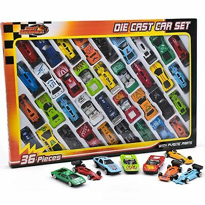 36pc Metal Die Cast Kids Cars Gift Set Xmas F1 Racing Vehicle Children Play Toy • 7.99£