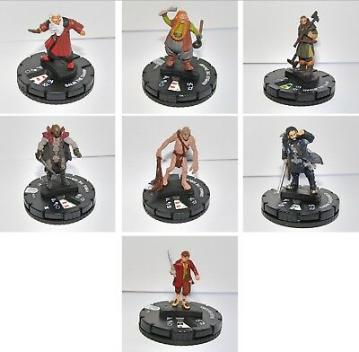 The Hobbit HeroClix Miniatures Balin Dwalin Bombur Thorin    (Lord Of The Rings) • 2.99£