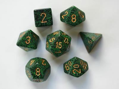 Chessex Speckled Polydice Set Of 7 Dice - Golden Recon • 7.94£
