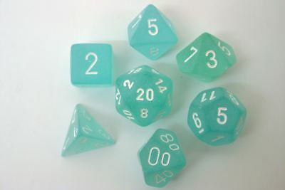Chessex Polydice Set - Frosted Teal/white • 10.86£