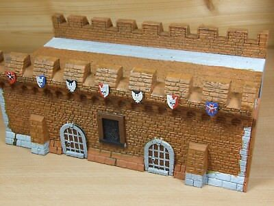 Converted Warhammer Fortress Wall Section Part Painted (l) • 30£