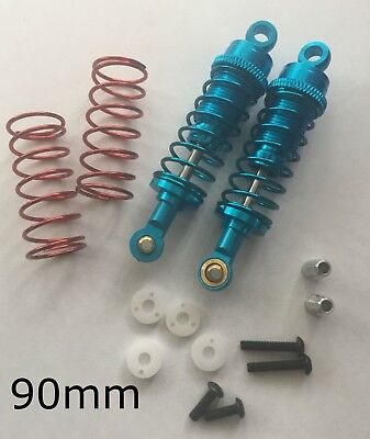 RC Car Buggy Alloy 90mm Shocks Damper Suspension Absorber BLUE Fits Tamiya HPI • 15.99£