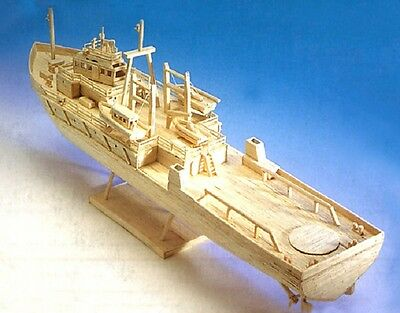 Oil Rig Support Vessel - Matchstick Model Construction Craft Ship Kit - NEW • 24.95£