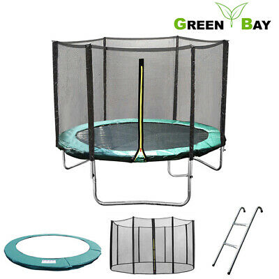 6 8 10 12 14 FT Trampoline Safety Net Enclosure Spring Cover Padding Ladder • 36.95£
