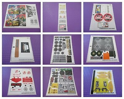 Lego Original Sticker Sheet (Various Available) - Please Choose One Needed *New* • 3.49£