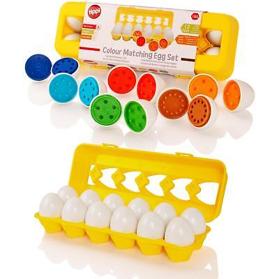 Tippi Colour & Shape Matching Toy Eggs Set Childrens Toddler Baby Puzzle Game • 7.99£