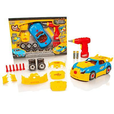 Take Apart 2 In 1 Race Car Childrens/Kids Model Construction Kit Drill Tool Toy • 7.99£