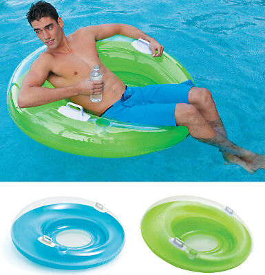 Intex Inflatable Sit N Lounge Swimming Pool Chair Lilo Lounger Air Mat Float • 23.49£