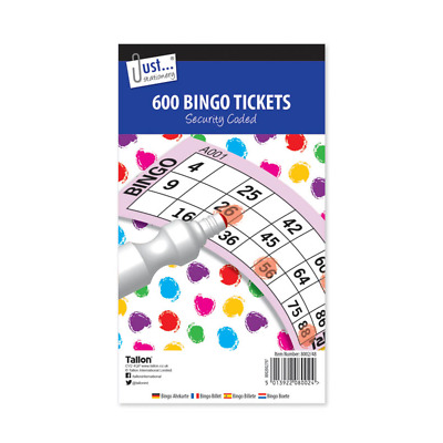 Bingo Tickets - 100 Pages 600 Tickets Family Games And Fun • 2.88£