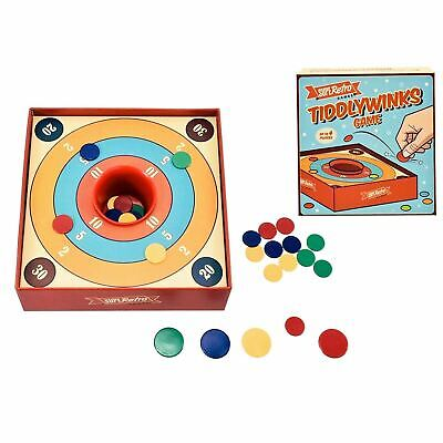 Traditional Tiddlywinks Game Classic Family Retro Skill Tiddly Game 4 Players • 4.95£