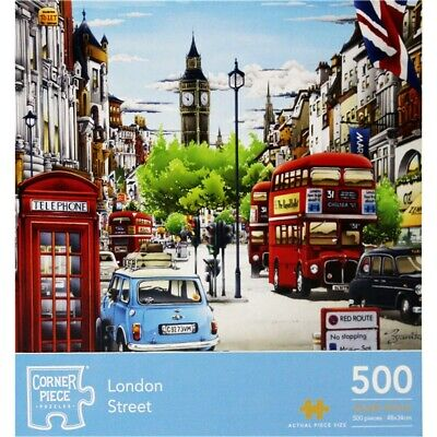 London Street 500 Piece Jigsaw Puzzle, Toys & Games, Brand New • 7£