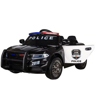 Kids Electric 12v Ride On Battery Police Car With Parental Remote Control • 119.99£