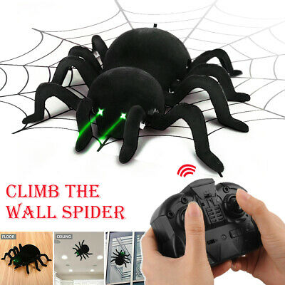 Black Terrifying RC Wall Climbing Spider  Remote Control Car Kid Trick Funny Toy • 19.99£