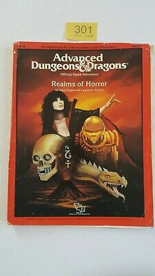 Realms Of Horror S1-4 Ad&d Tsr # 9209 Supermodule With Photocopy Handouts 1987 • 28£