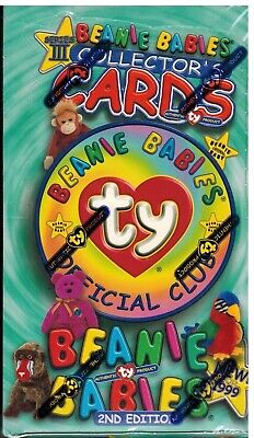 1999 Ty Beanie Babies Series 3 Collectors Cards 2nd Edition Sealed Box 24 Packs  • 18.37£