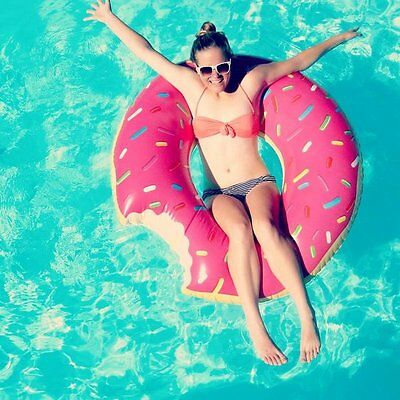 XL Inflatable Giant Swim Ring Swimming Pool Beach Adults Novelty Donut Float • 4.79£
