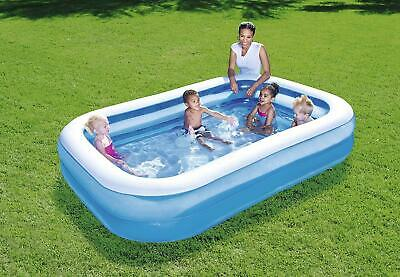 Bestway Inflatable 2.62m (8.7ft Foot) Rectangular Family Swimming Paddling Pool • 30.99£