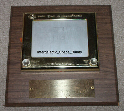 1974 Promotion Trophy Gold Etch A Sketch For 1 Millionith Sold To Employee • 515.79£