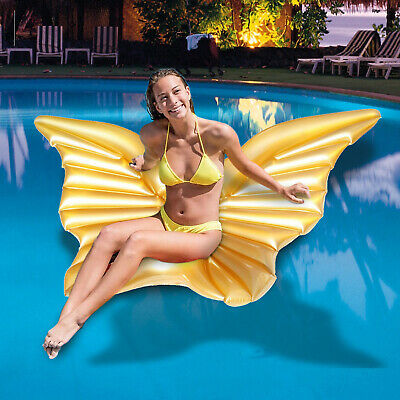 Giant Inflatable Butterfly Float Angel Wings Swimming Pool Beach Lilo Lounger • 9.99£