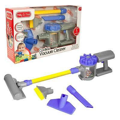 Milly & Ted Cordless Handheld Vacuum Cleaner Toy Hoover Childrens/Kids Playset • 14.99£