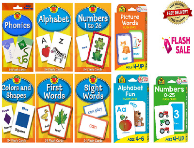 Children's Flash Cards Kids Educational Pre School Learning Brighter Child Gift • 4.89£
