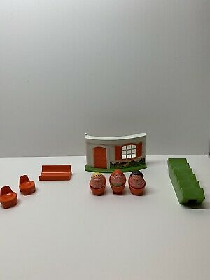 70s Vintage Retro Weebles Front House Stairs 5 X Chairs 1 X Bench & 3 X Weebles • 19.99£