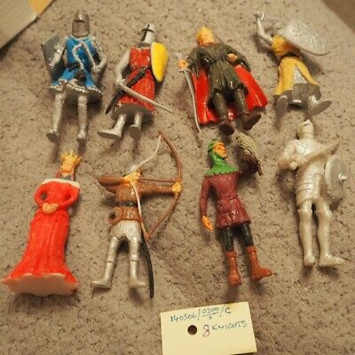 8 Medieval Figures Knights Etc, Unknown Compound And Date 85mm • 12£