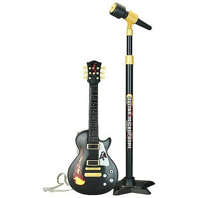 22  Kids Electric 6 String Rock Star Guitar & Extendable Microphone Musical Toy • 13.99£