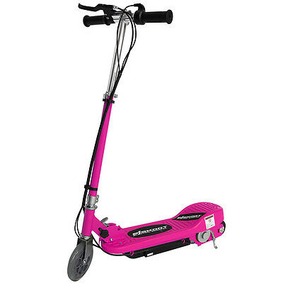 Kids Electric Scooter Pink 120w Ride On Battery Childrens Adjustable Fast Bike • 69.99£