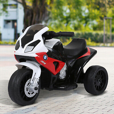 HOMCOM Electric Kids Ride On Motorcycle BMW Liscensed W/ Headlights Music Red • 60.99£
