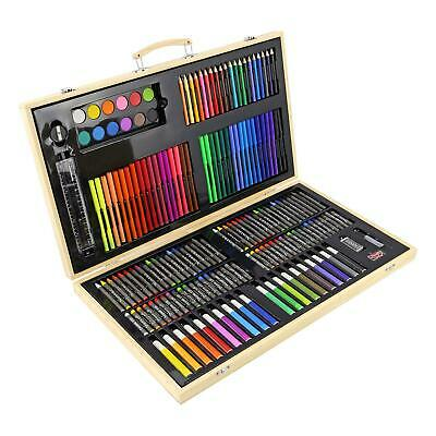 180 Pcs Art Set Childrens/Kids Colouring Drawing Painting Arts & Crafts Case • 14.95£
